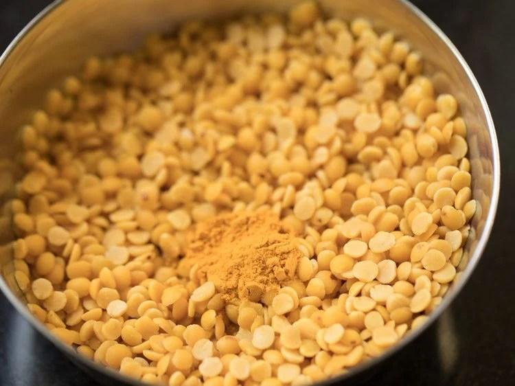 making pumpkin sambar recipe