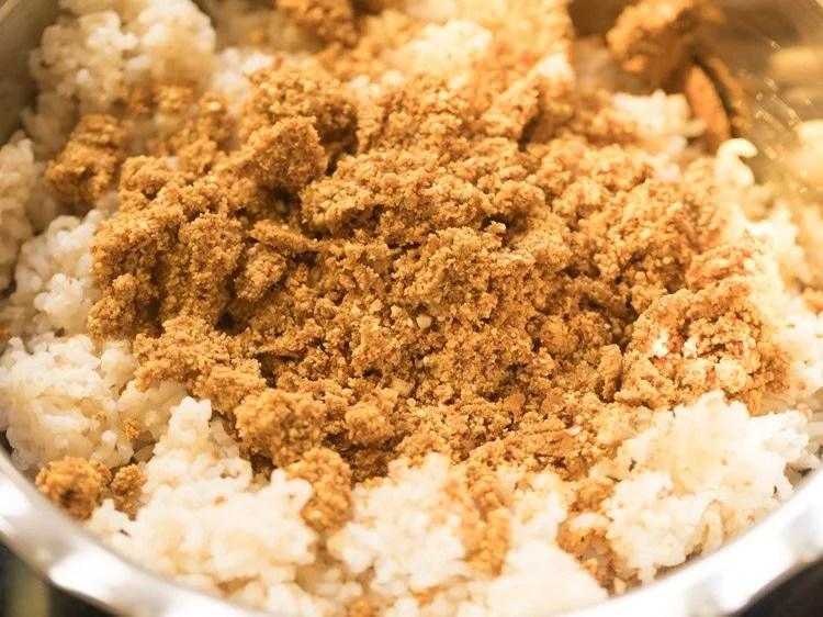 making verkadalai rice recipe