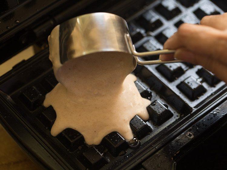 making egg free whole wheat waffle recipe