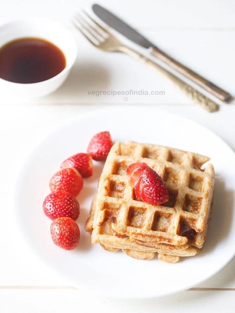 eggless whole wheat waffle recipe