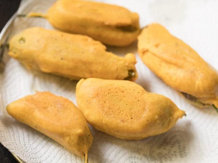 making Andhra mirapakaya bajji recipe