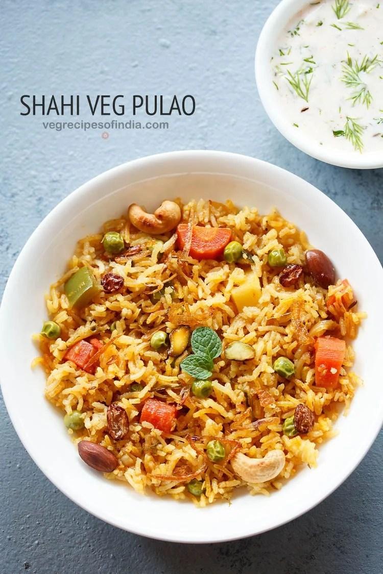 shahi veg pulao recipe