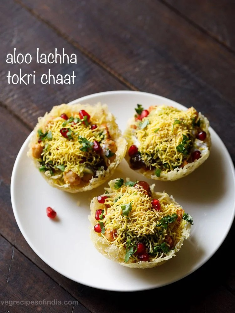 aloo lachha tokri chaat recipe