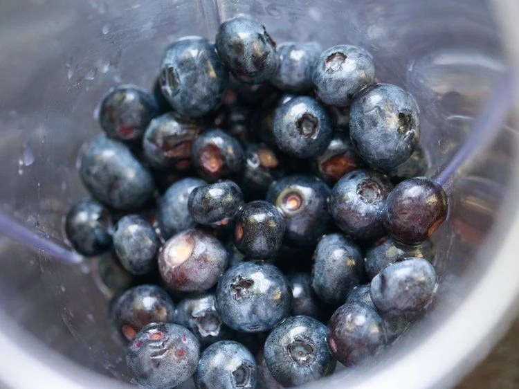 blueberries for making blueberry juice recipe