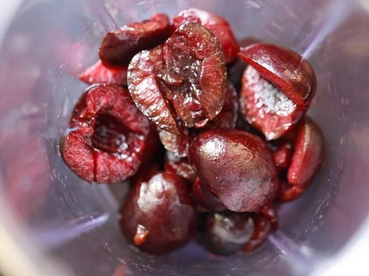 cherries to make cherry smoothie recipe