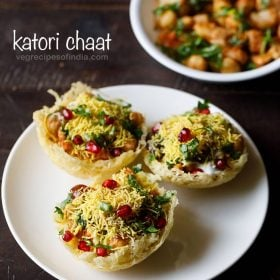 katori chaat, tokri chaat