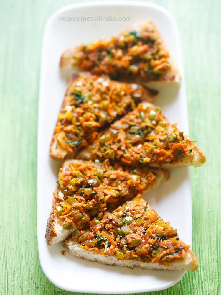 masala bread toast recipe