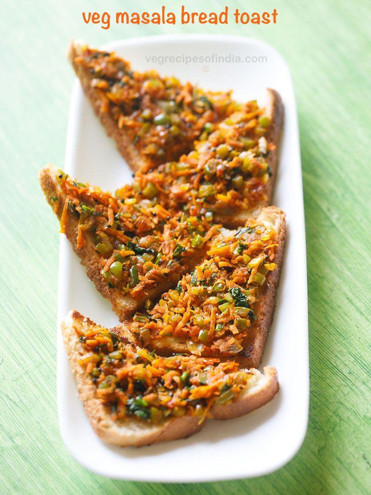 veg masala toast recipe