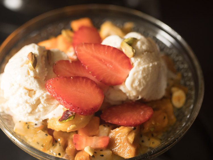 fruit salad recipe with ice cream