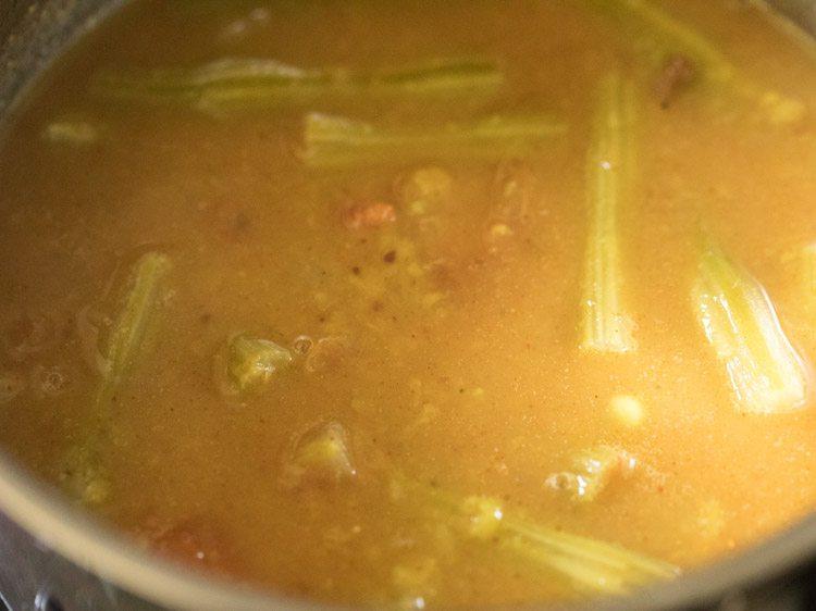 making murungakkai sambar recipe