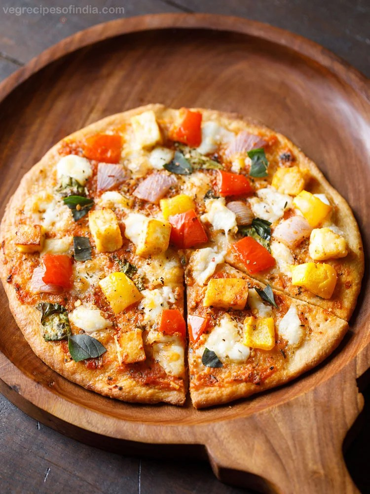 Indian paneer pizza