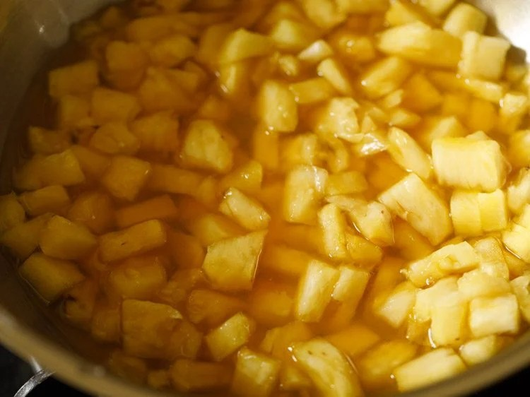 making pineapple pachadi recipe
