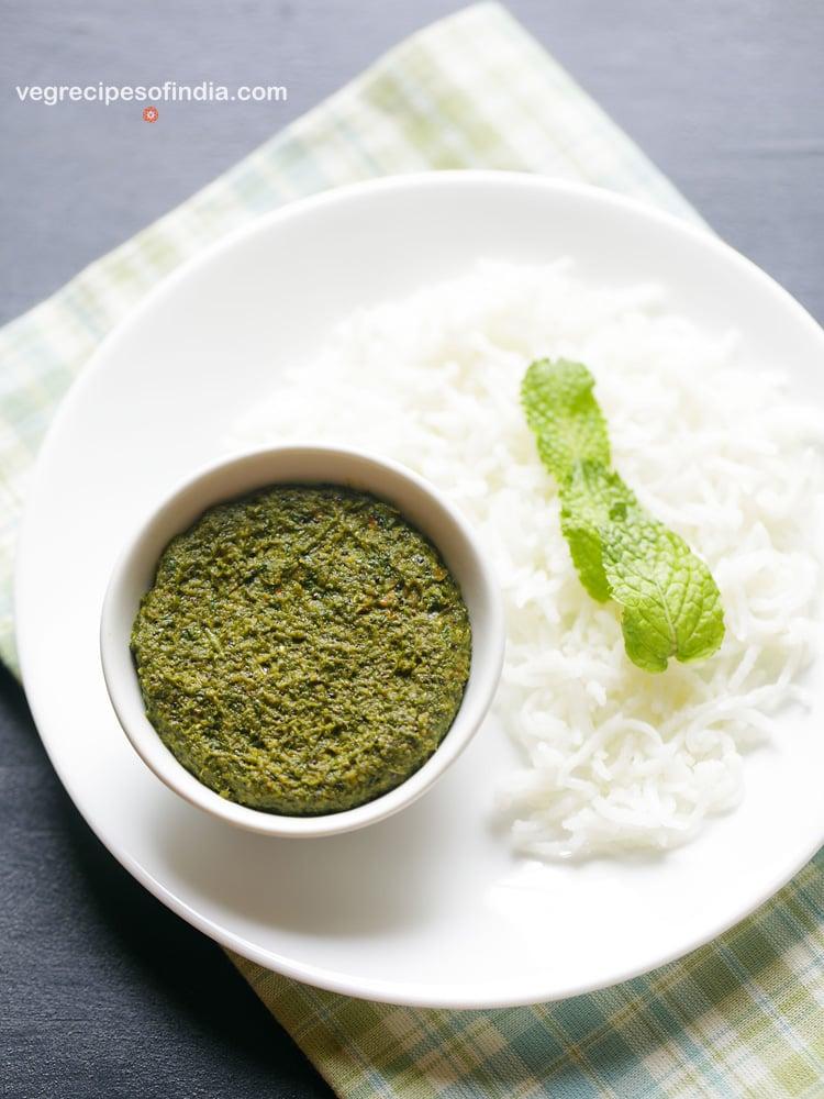 pudina thogayal for rice