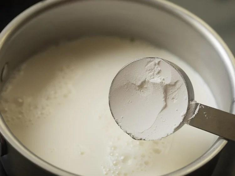 making custard recipe