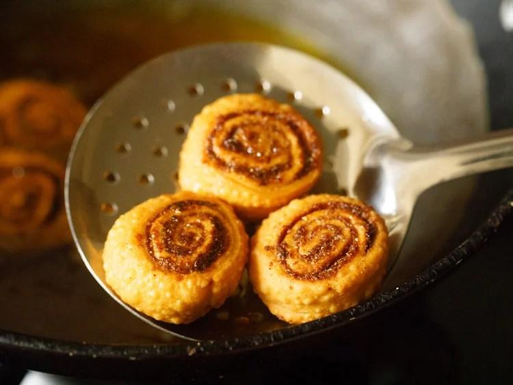 bhakarwadi recipe, bakarwadi recipe, how to make making bhakarwadi recipe