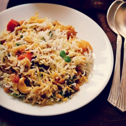 vegetable biryani, hyderabadi veg biryani recipe