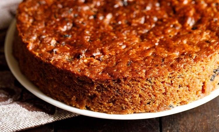 Eggless Fruit Cake Christmas Fruit Cake Dassana S Veg Recipes