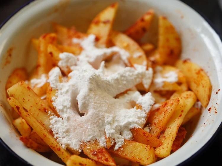 making chilli potato recipe