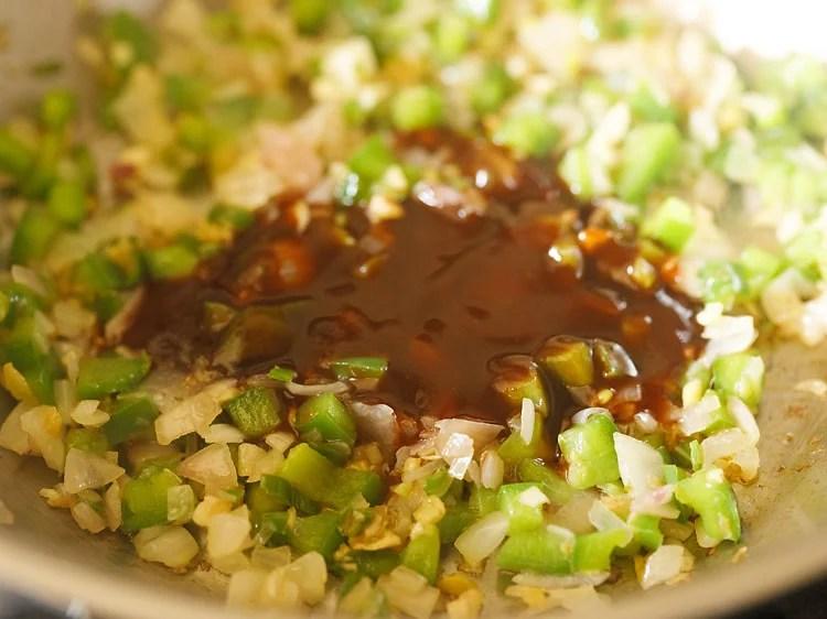 making chilli potato