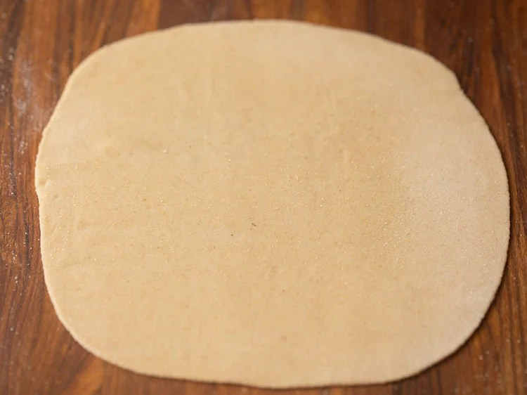 dough rolled to a large rectangle shape