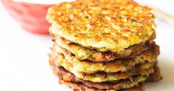 Zucchini Fritters | Easy & Crispy Zucchini Fritters (Vegan)