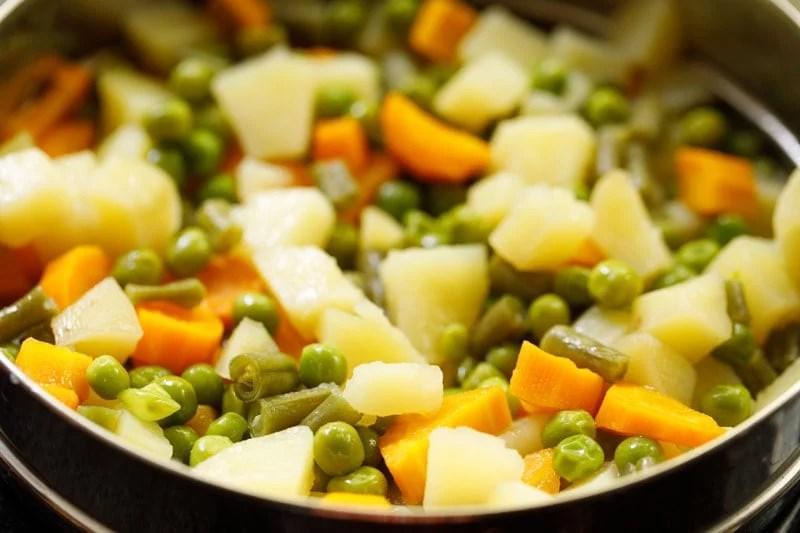 steamed veggies to make cutlet
