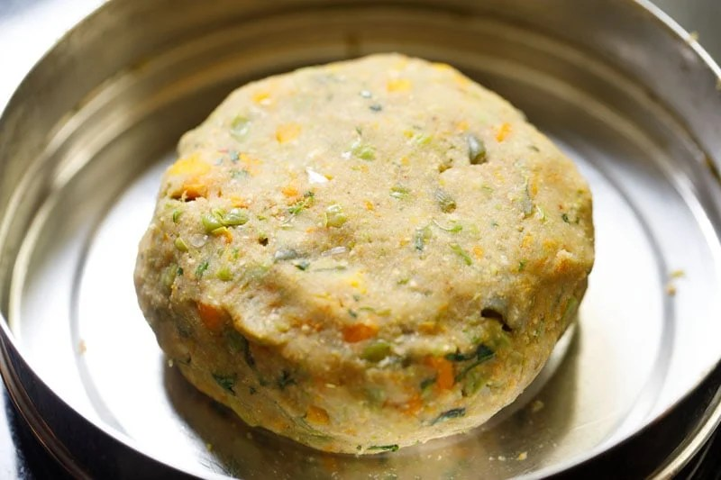 vegetable cutlet dough in the pan