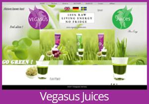 Vegasus Juices - Sweden website