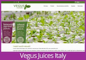 Vegus Juices Italy website