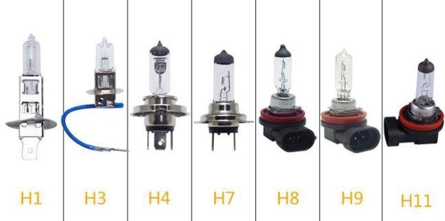 sigle attacchi lampadine per auto