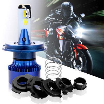 Nrpfell Moto Angel Eye H4 LED Faro per Moto Scooter Lampada per Faro per Motocicletta Lampadina Rossa