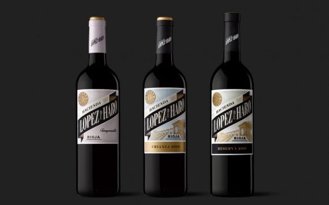 Diseño de etiquetas Veintemillas López de Haro