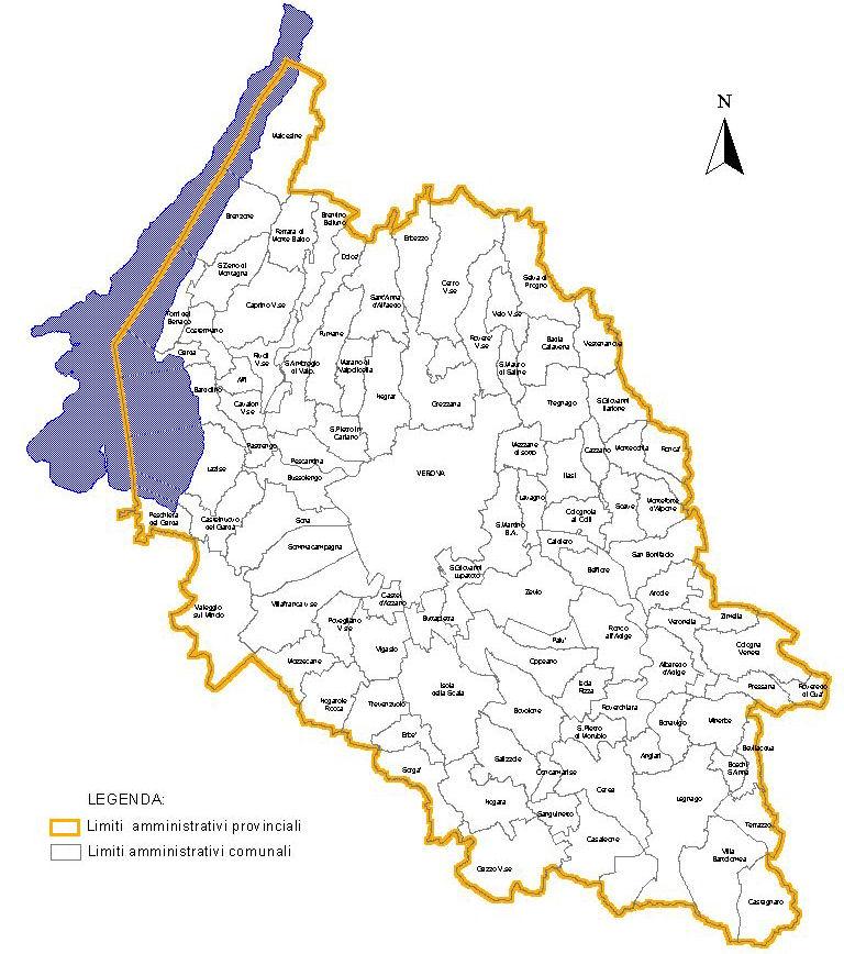 Verona provincia cartina geografica for Arredamenti verona e provincia