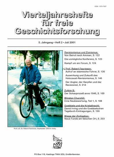 Vierteljahreshefte fuer freie Geschichtsforschung.394