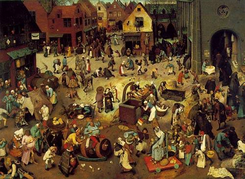Combattimento tra Carnevale e Quaresima, di P. Bruegel il Vecchio