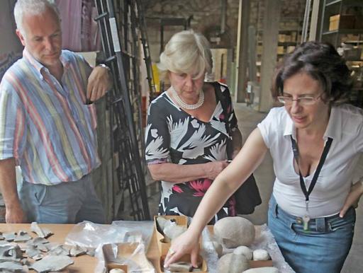 Bardolino 06/07/2010 mostre e musei deposito del museo di storia naturale all'arsenale con assessore Mimma Perbellini e Angelo Brugnoli photo Giorgio Marchiori foto per Pignatti
