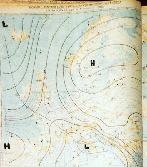 cartameteo-11- febbaio -1929