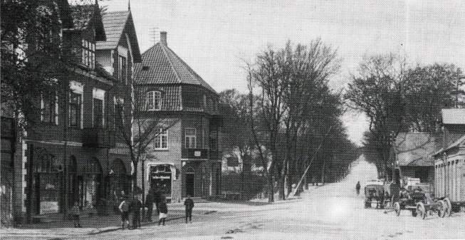Kongevejen gennem Nyholte foråret 1915