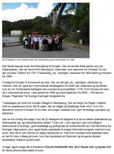 Ekskursion til Vestsverige 2013