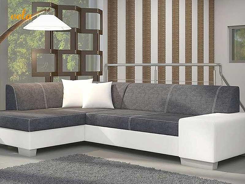 Sofa Chaise Longue Gris