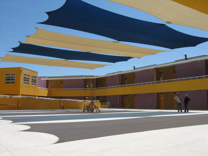 Tenso estructura Patio Colegio