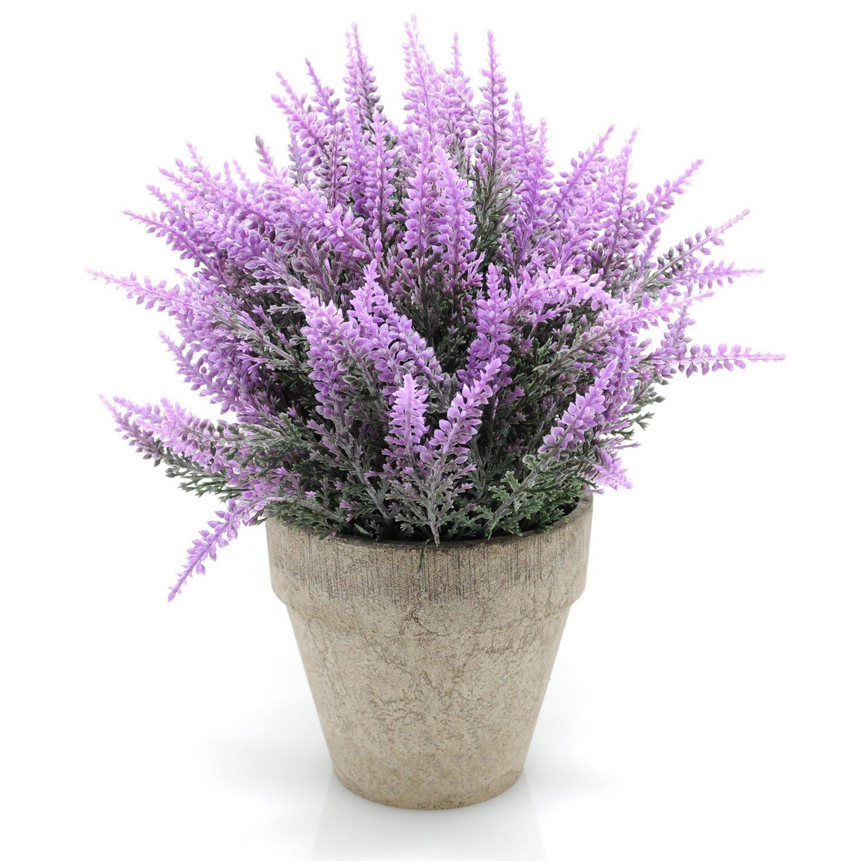 Velener Mini Artificial Flowers Provence Lavender Arrangements in