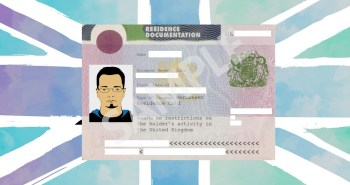 Permanent residence card sample