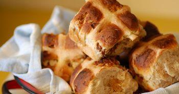 hot cross buns, anglicke velikonoce jidlo