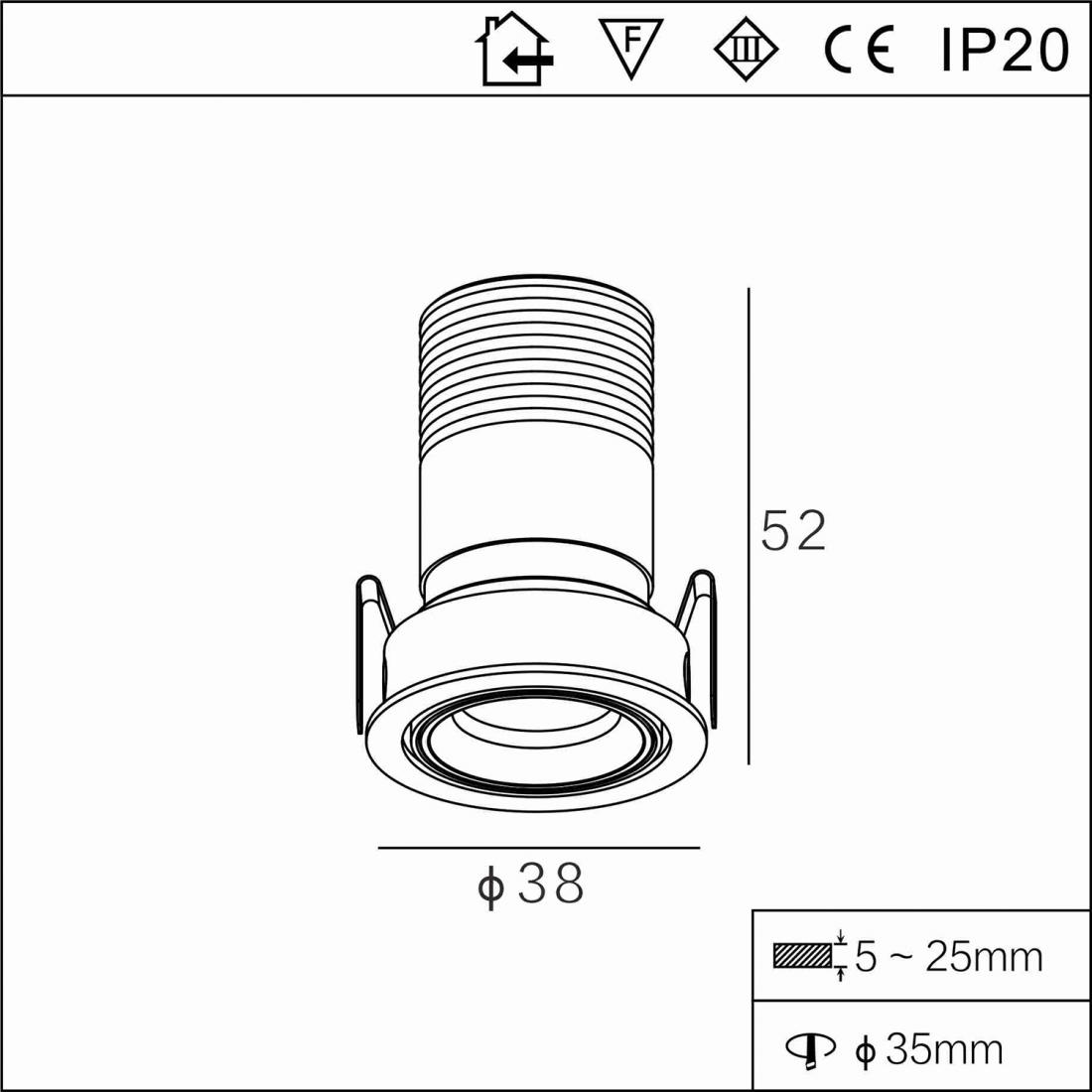 Indoor Ip20 Fixed 2w Mini Led Downlight Suppliers