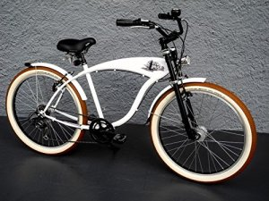 '26«Beach Cruiser Rétro City Bike Vélo Shimano moyeu dynamo Conforme au StVZO
