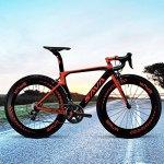 SAVA Phantom 2.0 700C Vélo de Route Fibre de Carbone SHIMANO 6800 22-Vitesses Système Maxxis Pneus Fi'zi: k Coussin (Noir & Rouge)