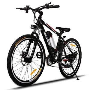 Ancheer Vélo Electrique Montagne E-bike 250W à Grande Vitesse -Motor E-Bike avec Batterie Amovible au Lithium 26″ Noir & Rouge