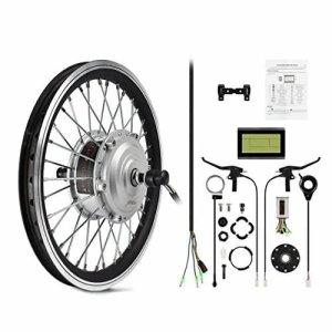 AFTERPARTZ® Electrique Byclette Moteur Kit Conversion électrique LCD roue avant Pedelec 36V 250W de conver e-vélo (29″/700C)