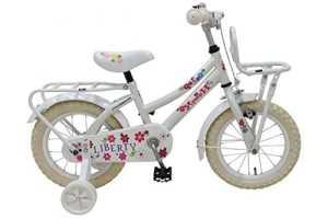 Vélo Enfant Fille Liberty Urban 14 Pouces avec Roues de Stabilization Amovible Blanc – 95% assemblé!!
